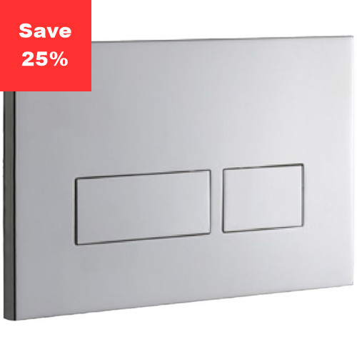 Ruby 2S Flush Plate - Stainless Chrome