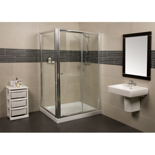 Wellspring 1400mm Sliding Shower Door