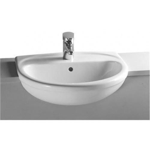 Vitra - Arkitekt Semi-Recessed Basin 55cm 2TH
