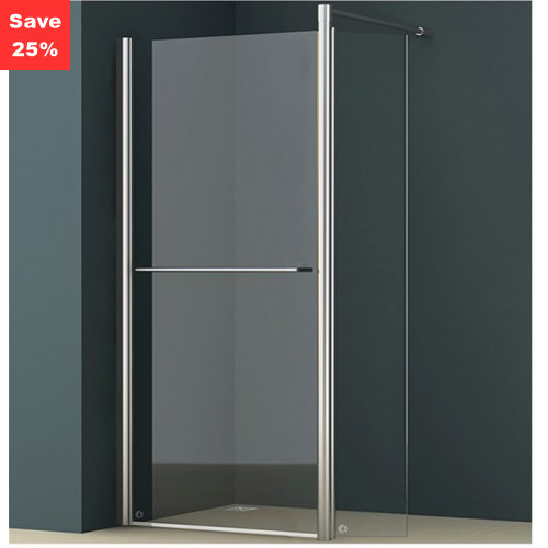 Origins - Amber 700mm Pivot Walk-In Shower Screen