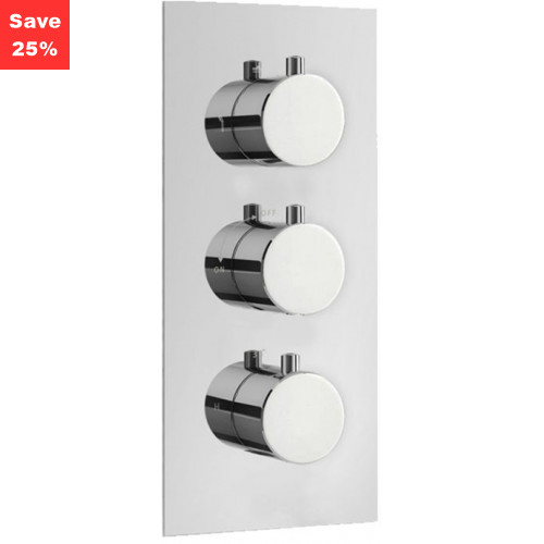Origins - Onyx Round Thermo Shower Mixer (3 Outlet)