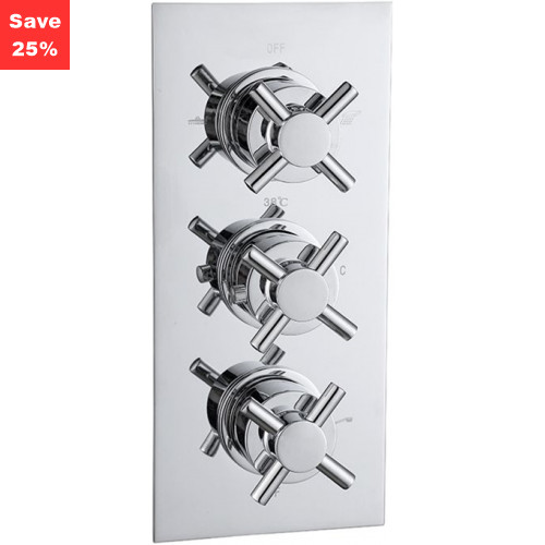 Origins - Onyx Cross Thermo Shower Mixer (3 Outlet)
