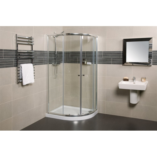 Origins - Wellspring 800 x 100mm Offset Quadrant Shower Enclosure