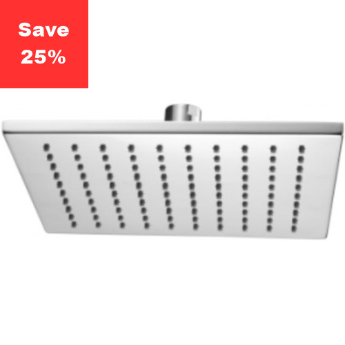 Onyx Square Fixed Shower Head 250mm Chrome