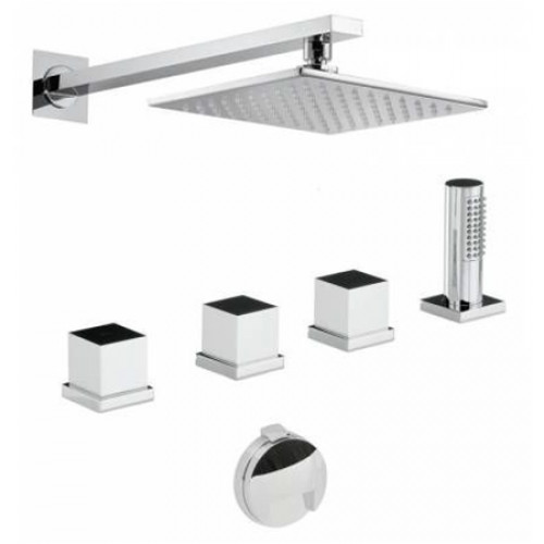 Abode - Zeal Thermo Deck Mounted Bath Overflow Filler Kit