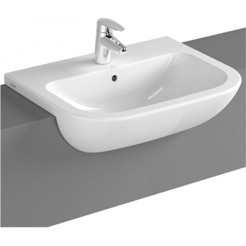 Vitra - S20 Semi-Recessed Basin 55cm 1TH