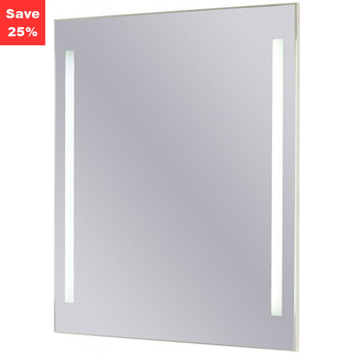Origins - Sapphire LED Mirror 500x600x43mm (WxDxH) Twin Lights