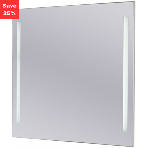 Origins - Sapphire LED Mirror 600x600x43mm (WxDxH) Twin Lights