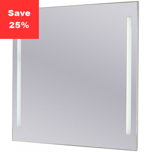 Sapphire LED Mirror 600x600x43mm (WxDxH) Twin Lights