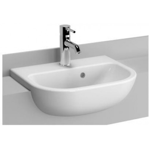 Vitra - S20 Semi-Recessed Basin 45cm 1TH