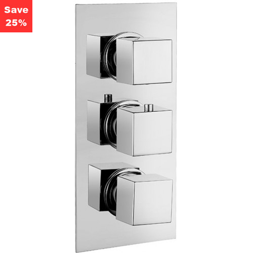 Onyx Square Thermo Shower Mixer (3 Outlet)