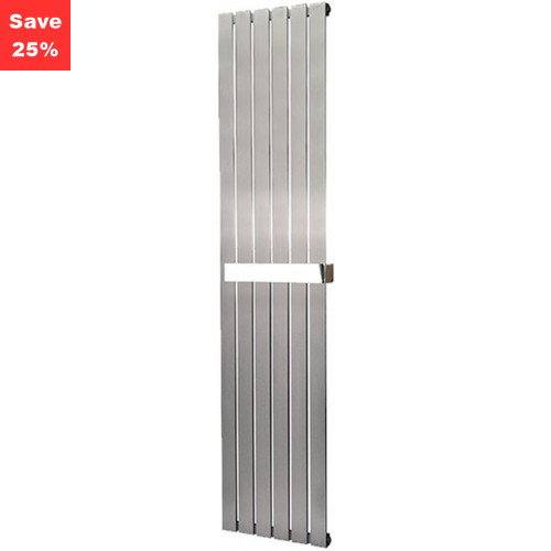 Aventurine Brushed Steel Radiator - 1400 x 410mm