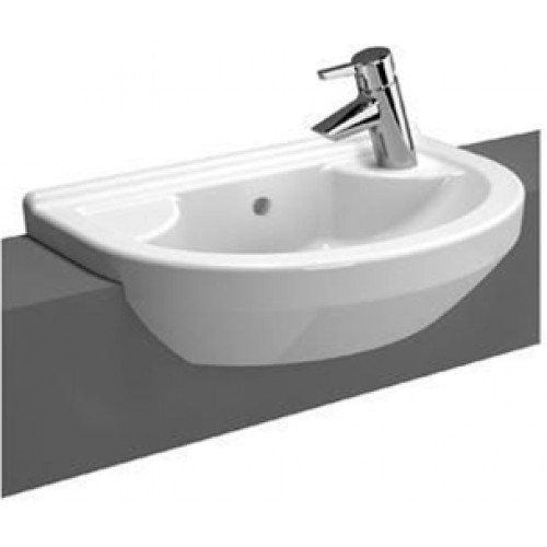 S50 Compact Semi-Recessed Basin 55cm Round 1TH RH