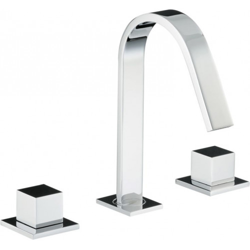 Zeal Deck Mounted 3 Hole Basin Mixer No Waste