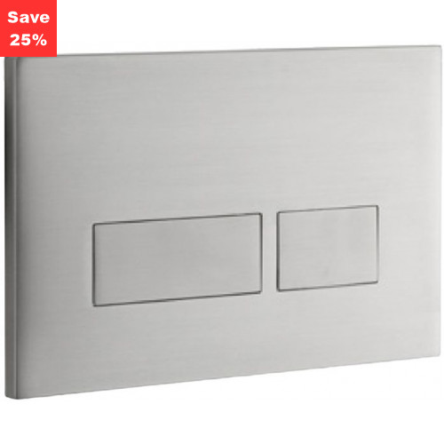 Ruby 2S Flush Plate - Brushed Stainless
