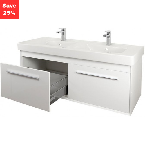 Ruby Vanity 1300mm White